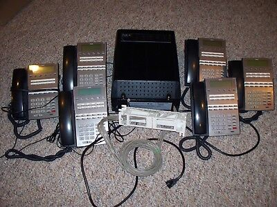 NEC DS2000 with 6 Phones, 34 buttons, No Voicemail, Pre-owned