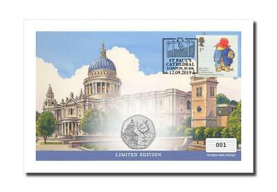 *CLEAR AT COST*Paddington Bear 50p at St Paul's Cathedral Coin/Stamp Cover 2019