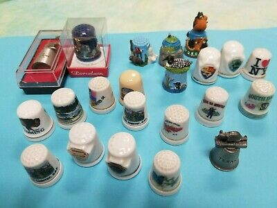 Thimbles large lot of collectible vtg  advertising    Great condition
