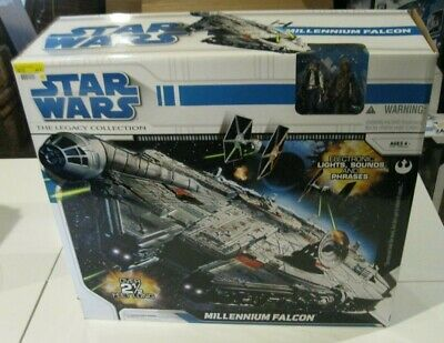 HUGE 2008 Hasbro Star Wars Millennium Falcon The Legacy Collection Han Solo