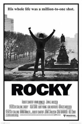 Rocky Movie Poster His Whole Life Was Million To One Shot 24 X 36