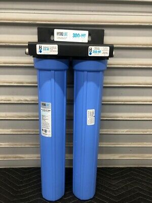 New Hi Flow 2 Filter Water Treatment System Hydro Life 300-HF Twin 52650 #2971