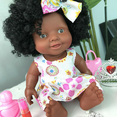 Baby 10inch Cute Movable Joint African Black Doll Kids Child Toy Christmas Dolls