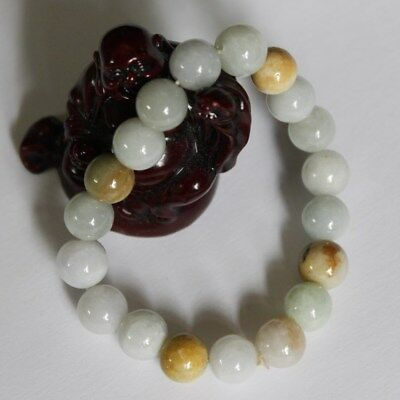 Gemstone Natural JADE A-Grade Untreated Multi-Color Jadeite Beads Bracelet