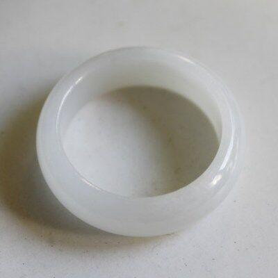 Size 9 1/4 CERTIFIED Natural Jadeite Grade A Untreated White JADE Ring #R202