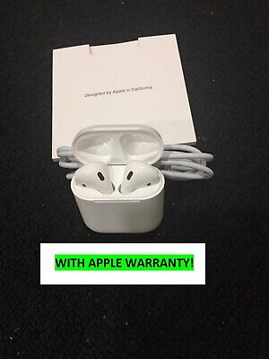 NEW Apple AirPods 2nd Gen w/ Wired Charging Case Latest - White -APPLE WARRANTY!