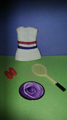 """Vintage topper dawn/pippa dolls """"WHAT A RACKET"""" OUTFIT NO SHORTS 🌼🌼 EXCELLENT"""
