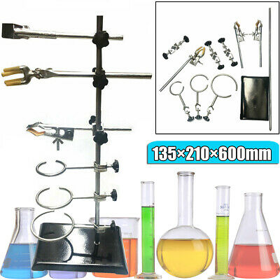 Laboratory Stands Lab Support and Clamp Flask Grade Metalware Set 135*210*600mm