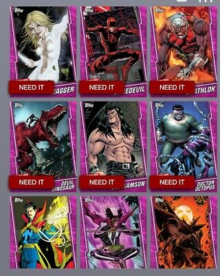 Topps Marvel Collect Trader- Prize Wheel Pink Base - 5 Random Cards (digital)
