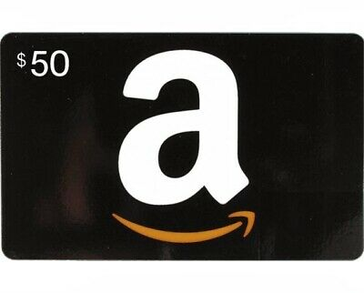 $50 Amazon Gift Card - Same Day & Very Fast Shipping! Trusted Ebayer