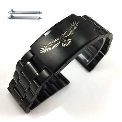 Steel Metal Bracelet Replacement Watch Band Strap Black Eagle Collection 5016-50