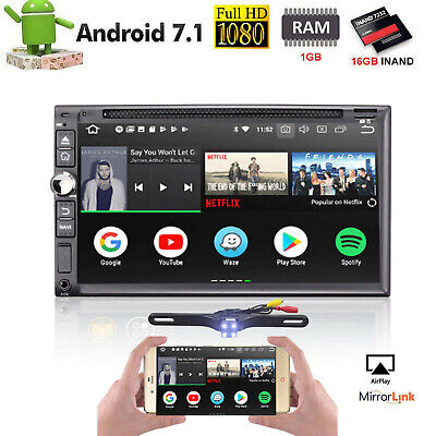 "7"" 16G Android 7.1 2Din Car CD DVD Stereo GPS Player Wifi 4G Radio Navigation SD"