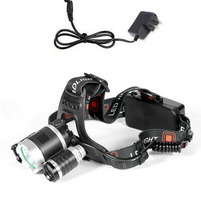 12000LM 3 x XML CREE T6 LED Rechargeable HeadTorch Headlamp Light Lamp Fine