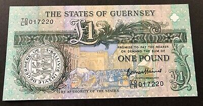 2013 States of Guernsey One Pound Banknote Uncirculated Mint condition. Pick 62.