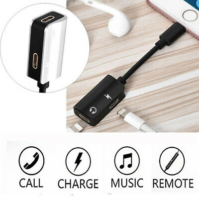 2 in1 Lightning Cable Genuine Charging Adapter Audio Cable for iPhone X 8 7 Plus