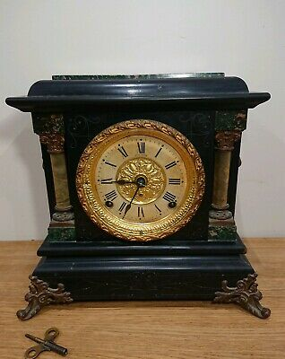 Original Antique Seth Thomas mantle clock labeled 1880 working.