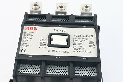 ABB EH 450 Contactor 550 AMPS 3 Pole- Good Condition