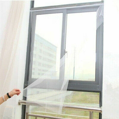 Magic Mesh Window Curtain Fly Bug Insect Mosquito Screen Net White JI1