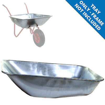 65L Galvanised Wheelbarrow Tray Pan Body Replacement Spare Parts DIY Heavy Duty