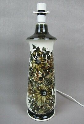 """Superb vintage tall hand painted Jersey Pottery TABLE LIGHT / LAMP. 45 cm 17.75"""""""