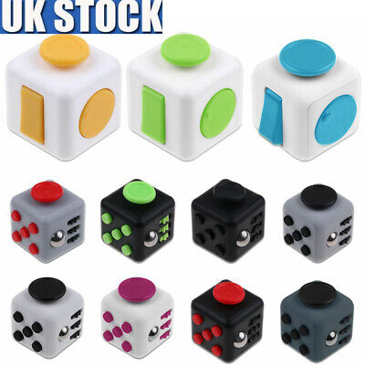New Dice Magic Fidget CUBE Desk Toy Stress Anxiety Relief Focus Gift Adult Kids
