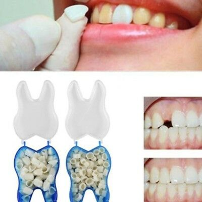 60xNew Temporary Crowns Posterior Anterior Molar Resin Tooth Teeth Caps Decor zt