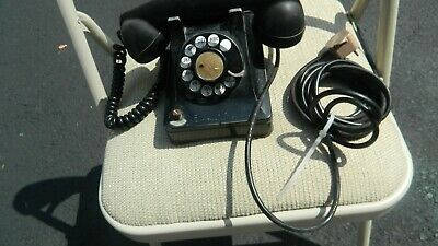 rotary dial western electric1940 black desk phone
