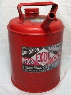 1 Small Replica Red Metal Motor Oil Advertising Storage Can Collectors Gift