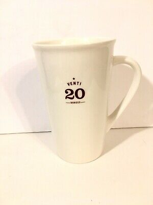 Starbucks Venti 20 oz Coffee Latte Ivory Ceramic Tall Mug Cup 2010