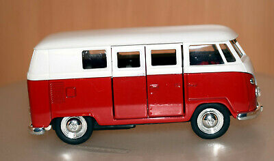 Welly VW T1 Bus 1963 weiß rot 1:43