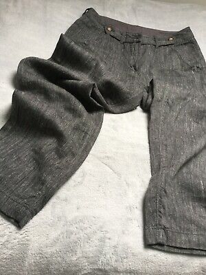 POETRY linen/wool mix trousers, Size 8 generous, Grey