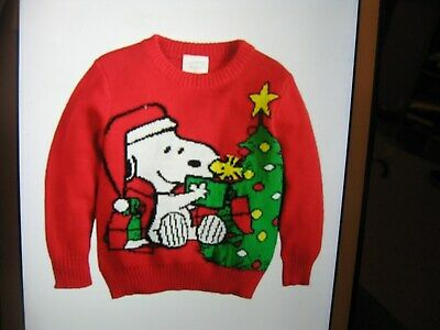 Jumping Beans Snoopy Holiday Red Sweater Size 4T NWT