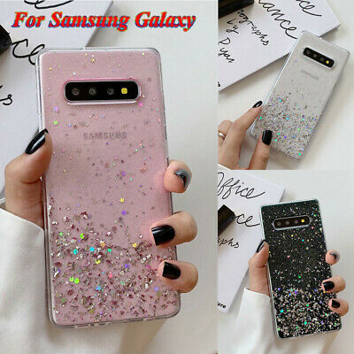 Bling Glitter Case For Samsung Galaxy S8 S9 S10 Note 10 Plus Clear Phone Cover