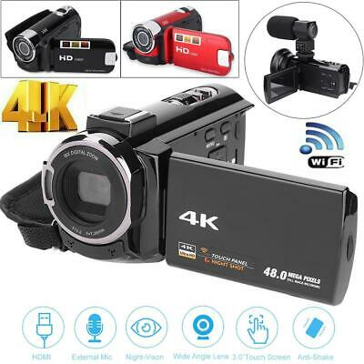 UHD WiFi 16X Zoom 48MP Touchable Screen Digital Video Camera Camcorder 13MP COMS