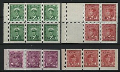 Canada - King George Vi War Issue Mint Booklet Panes Mnh