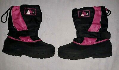 Mountain Creek Girls Snow Boots size 2M Insulated Waterproof Pink/Black