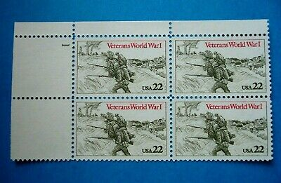 World War I Veterans - Plate # Block of 4 MNH - US Postage Stamps
