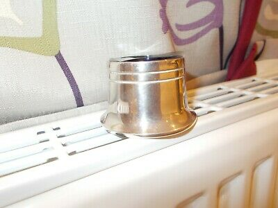 Silver plate mustard container with blue glass   liner