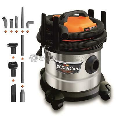 230V Wet And Dry Vacuum Cleaner Stainless Steel 1400W Fire And Box 2Click Ck8560