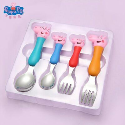 Peppa Pig Cutlery Spoon Set Children's Tableware Spoon Fork Dining Lunch George