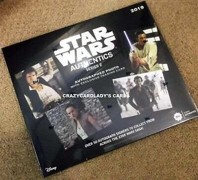2019 Topps Star Wars Authentics Autographs Series 2 Hobby Box PRIORITY SHIPPING