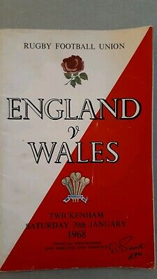 ENGLAND WALES   20th January 1968 RUGBY UNION PROGRAMME