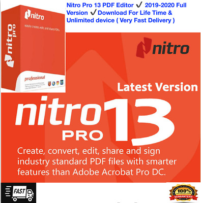 Nitro Pro13 2019-2020 Lifetime License FAST DELIVERY100% Satisfaction Guaranteed