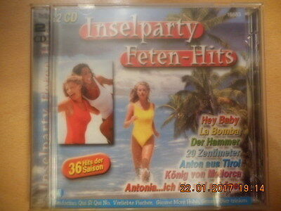 Insel Party Feten Hits - 36 Super Hits - Top Doppel CD Musik Karneval Tanz