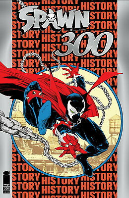Spawn 300 Nycc Silver Foil Todd Mcfarlane Variant Cover Edition Spiderman 300 Nm