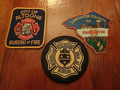 Three Pennsylvania Fire Patches