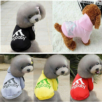 Pet Dog Winter Coat Hoodie Jacket Clothes Puppy Cat Sweater Casual Warm Clothing