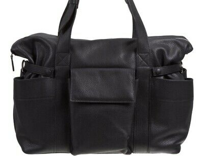 Black Leather Duffle Weekender Diaper Travel Bag Chanel Alexander Wang Gucci