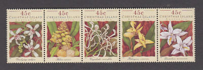 Christmas Is. - 1994 Orchid Strip. Sc. #363. SG #392a. Mint NH