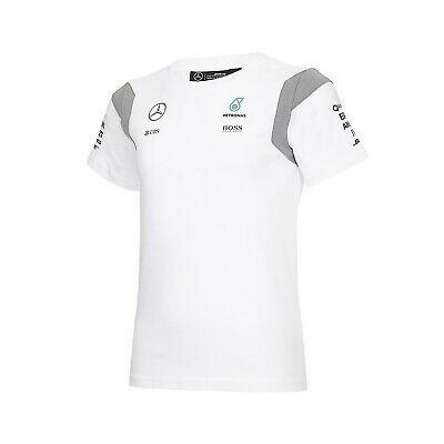T-SHIRT kids Formula One 1 Mercedes AMG Petronas F1 Team Child NEW! White
